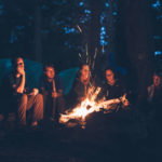 campers around a campfire